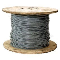 Opláštěné ocelové lanko na zavěšení síťe - cena za 1metr