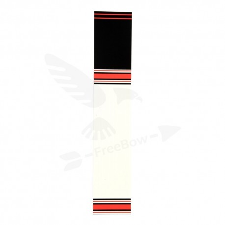 Samolepka ozdobná  černá/červená/bílá