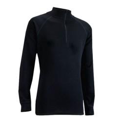 Triko ZIP TOP MERINO dámské zip černá