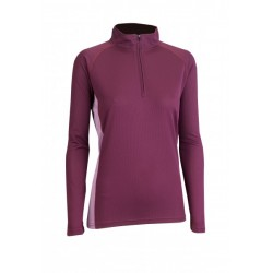 Triko ZIP TOP Womens plum/valerium