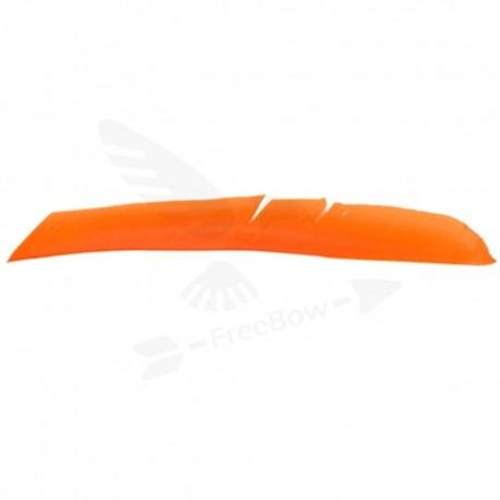 Perutě celá délka, jednobarevné oranžové